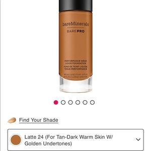 Bare minerals bare pro foundation